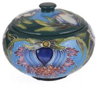 A pair of contemporary Moorcroft pottery 'Saadian' jars with cover by Shirley Hayes, design date 200