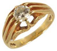 A single stone diamond set fancy ring,