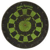 An original late 1960s Apple Records promotional dartboard,
