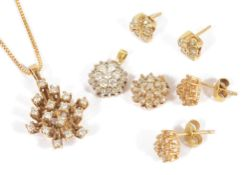 A small collection of contemporary diamond set jewellery
