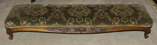 A Victorian mahogany footstool
