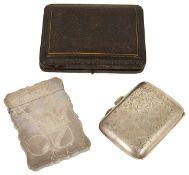 A Victorian silver card case, hallmarked Chester 1887
