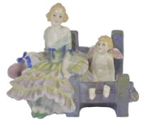 A Royal Doulton 'Love locked in' figure group, HN1475