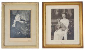 A framed photograph of Princess Augusta of Hesse Kassel (1797 - 1889)