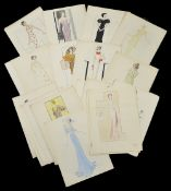 A collection of 1930's fashion sketches by Joan Edwards