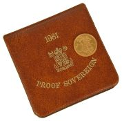 A Royal Mint 1981 proof sovereign