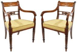 A pair of Regency mahogany carvers, circa 1820