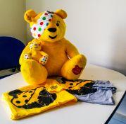 A large Pudsey teddy bear