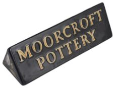 A contemporary Moorcroft pottery triangular shaped promotional stand by Sian Leeper, design date 200