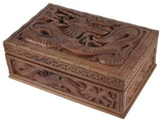 A modern hardwood jewellery box