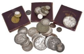 A collection of UK coinage