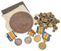 PTE. R.W Harvey and SPR. V.E Wright military medals