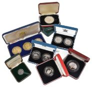 A collection of cased Royal Mint silver coinage