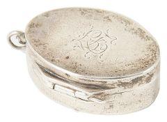 A George III silver vinaigrette pendent, hallmarked Birmingham 1799