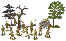 Britain's Boy Scouts and Scout Master Figure Group