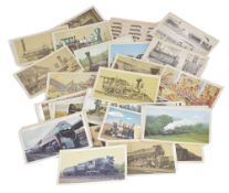 A set of 39 Whyte's Classification System 'Types of Steam Locomotives' cards