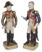 Two Sevres Napoleonic Marshals of France porcelain figurines