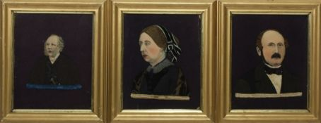 A pair of unusual felt pictures, English, early 20th Century,