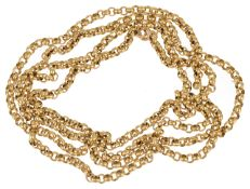 A 9ct gold belcher chain necklace