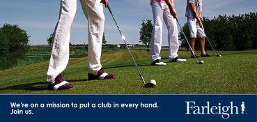 Golf club experience at Farleigh Golf Club