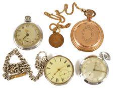 A Victorian silver open faced pocket watch, hallmarked London 1867
