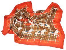 A vintage silk Hermes style scarf