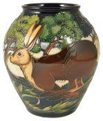 A contemporary Moorcroft Philip Gibson 'Flanders Moss' vase, circa 2002,