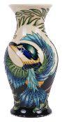 A contemporary Moorcroft 'Kotare' vase by Philip Gibson, circa 2005