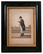 'George The Third His Most Excellent Majesty' after Charles Rosenberg coloured print