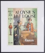 A.E Batchelor (British fl. 1920s) original artwork for the dust cover of 'Aloysius let loose'