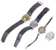 A collection of assorted wristwatches including Omega, Ingersoll and Jaeger-Le-Coultrethe Jaeger-