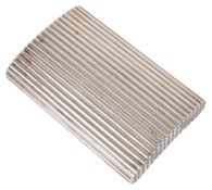 A Tiffany silver cigarette casehallmarked Sterling 925, of rectangular ribbed form with hinged