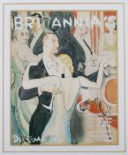 British School, 20th century '1930's study of a couple dancing', watercolour for Britannia and Eve