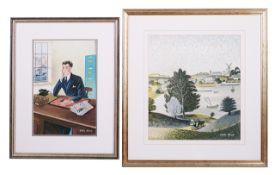 Leslie Wood (British 1920 - 1994) original artwork for the dust wrapper of 'Storm of Time'