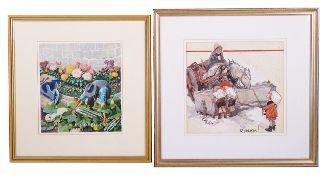 Gilbert Wilkinson (British 1891 - 1965) original artwork for the cover of 'Passing Show'