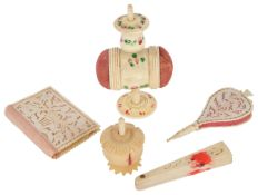 An interesting small collection of sewing accessoriesfirst half 19th century comprising a combined