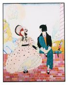 Helen Dryden (American 1882 - 1972) artwork for Vogue 1918 original pen, ink and watercolour
