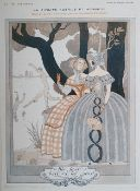 A collection of 19th and 20th century etchings and prints a Victorian Pantin Colombine by Pellerin,