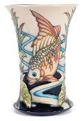 A contemporary Moorcroft 'Derent' vase by Philip Gibson, circa 2004
