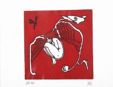 Johann Erbler (b.1963 Vienna) 'Girl in a web', Limited Edition 25 of 70, artists monogram