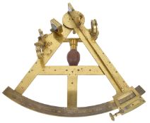 An interesting brass 12-inch sextant by Jesse Ramsden bearing name plate Duke of Clarence, third