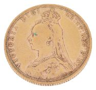 A Victorian fine gold sovereign, dated 1892approx. weight 8.2 gms.Condition: Some overall wear
