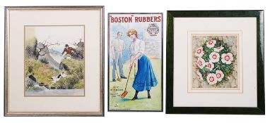 Two original artworks for book dust covers and an advertising watercolour