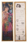 Seven 1920's 'Pompeian Beauty Company' advertising prints, six double sided