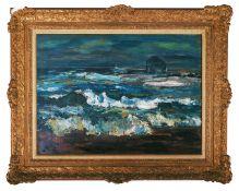 Sir William MacTaggart PPRSA RA FRSE Hon RSW LLD (British, 1903-1981)'The Bass Rock', signed bottom