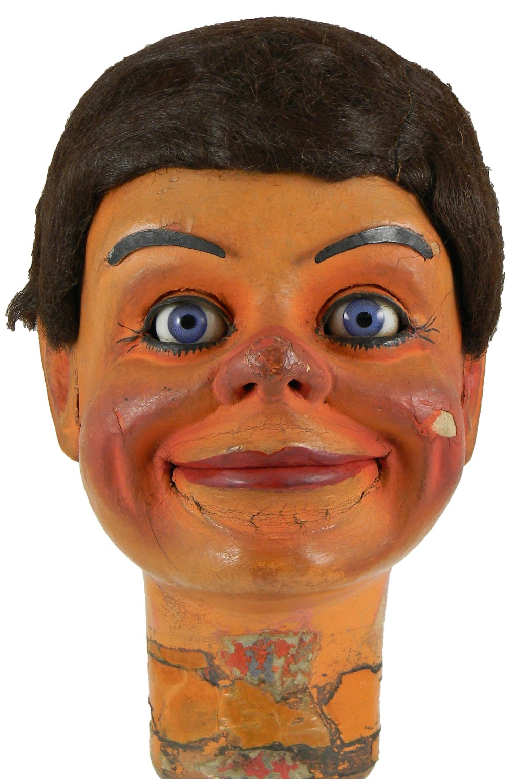 Lot 215 - Jack Beckitt's first professional Ventriloquist Dummy Johnny with seven movements by Davenports