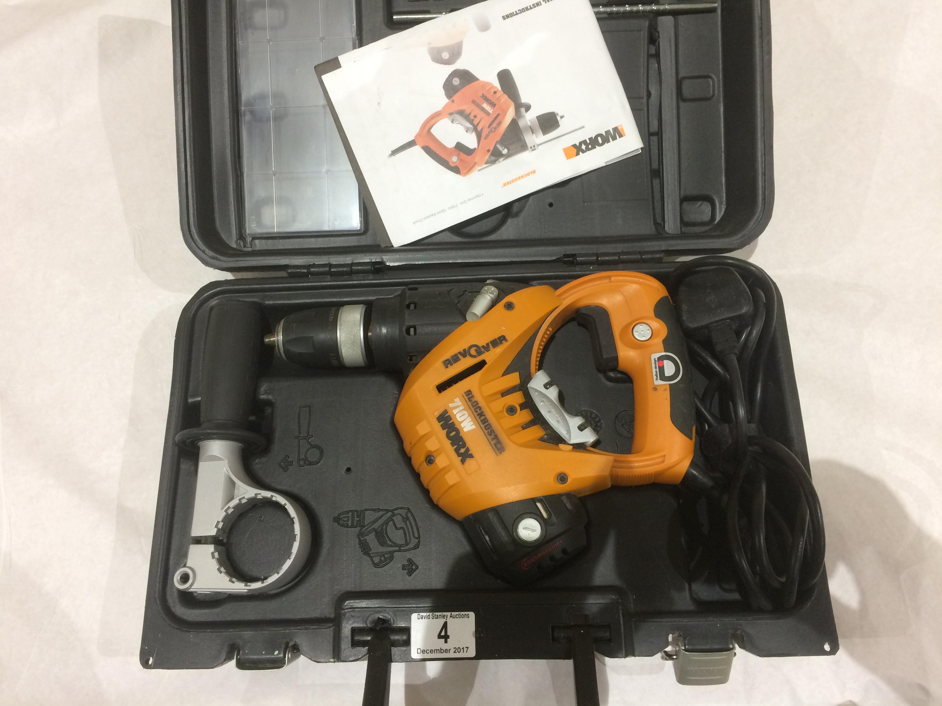 Lot 4 - WORX 710W Drill as new