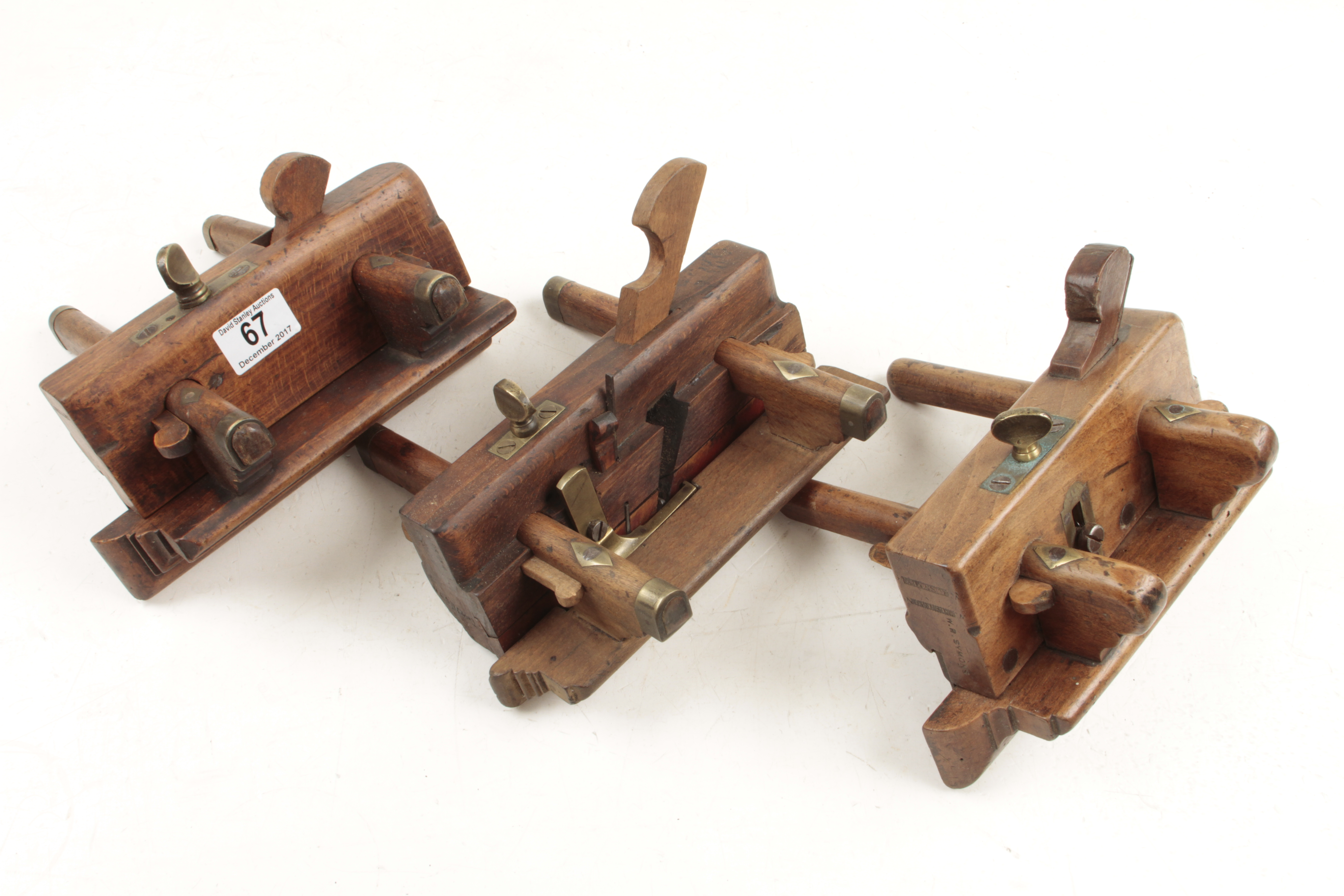 Lot 67 - Two beech plough planes and a fillester G