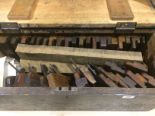 Lot 28 - A pine chest of 37 moulding planes