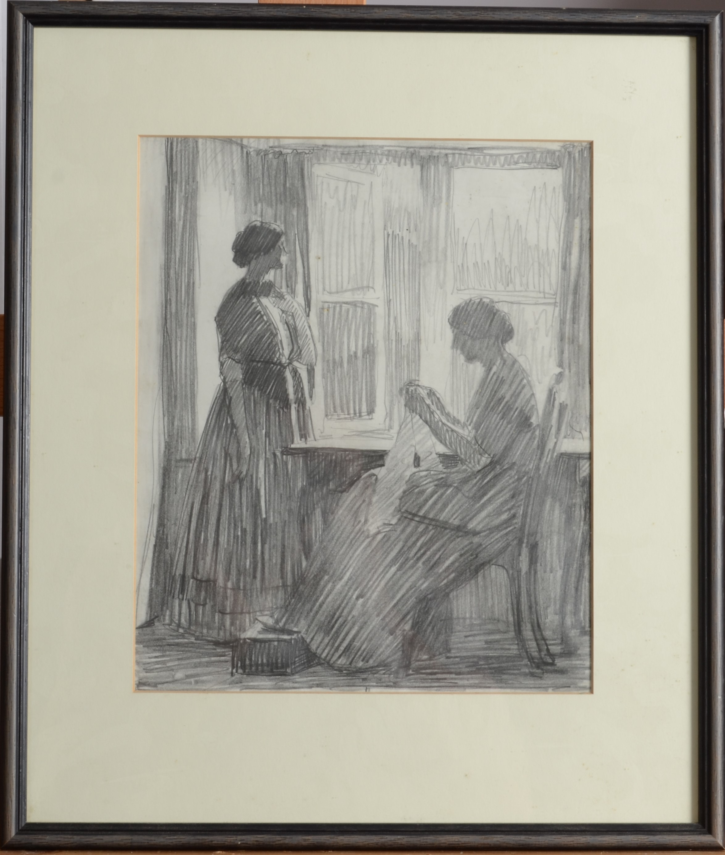 Lot 43 - LAURA KNIGHT Two Figures Pencil on paper 26 x 21 cm Provenance:from the estate of S J Lamorna Birch.